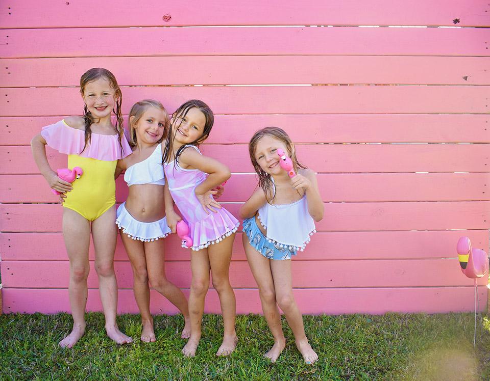 6th Birthday Flamingle - Stella Cove Girls