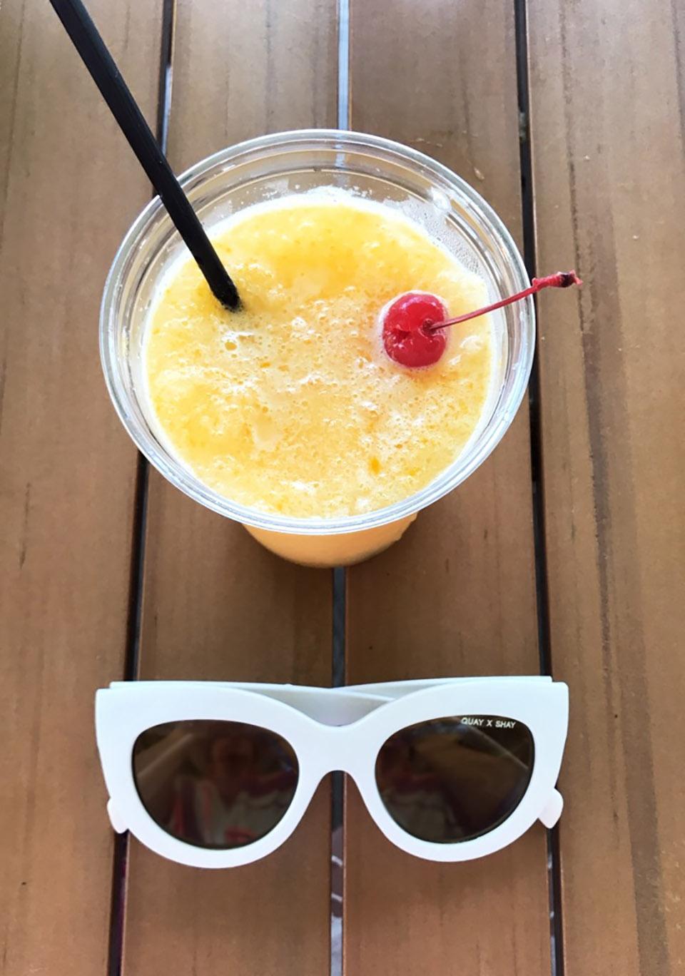 30A Street Style Sheraton Bay Point Pelicans Mango Mocktail