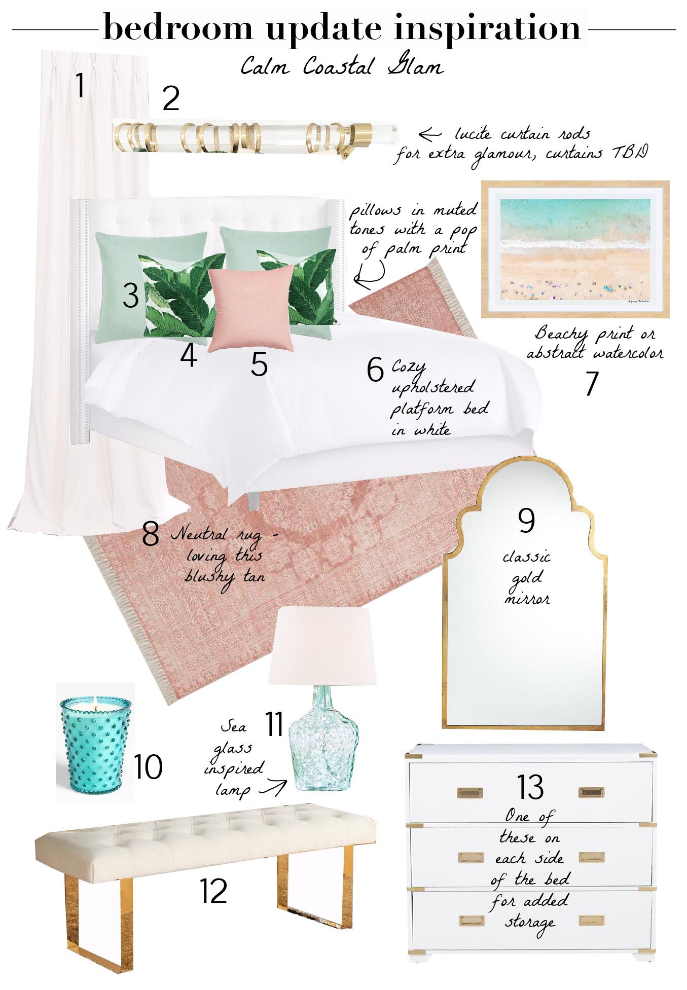 Shopping-Bedroom Update Inspiration Calm Coastal Glam
