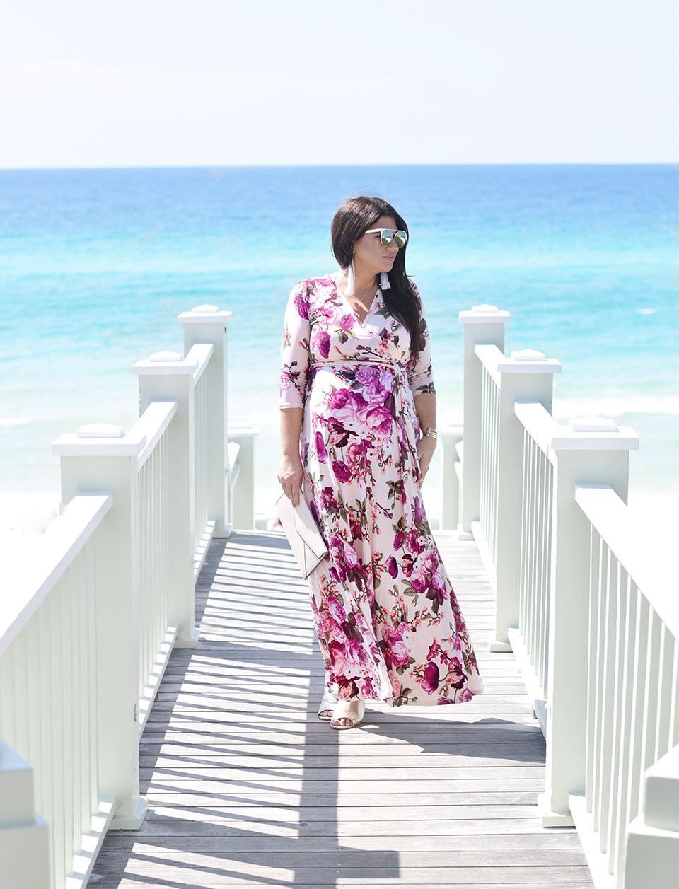 30A Street Style Maternity Dress in Seaside