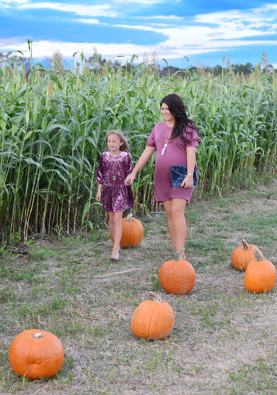 Fall Style Mauve Mommy and Me