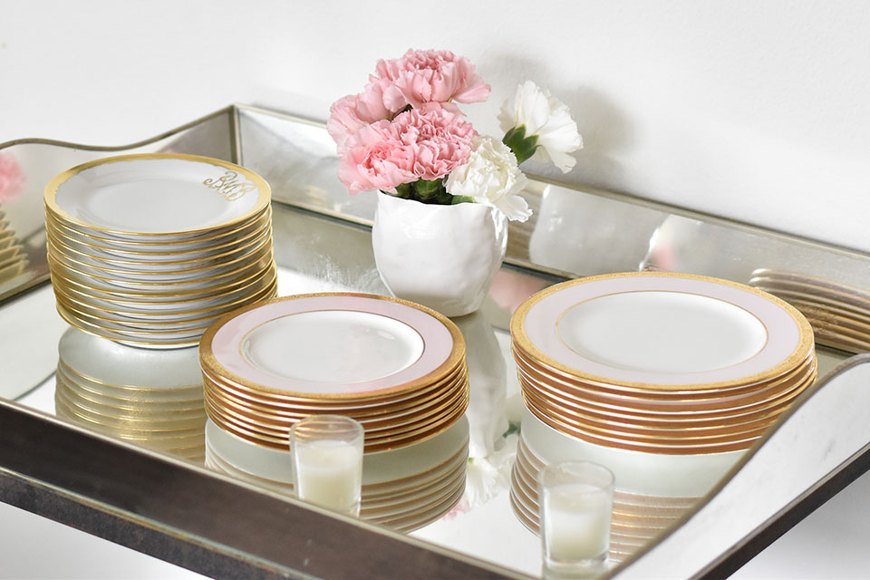 Baby Shower for Collins Eliza Pink and Gold China