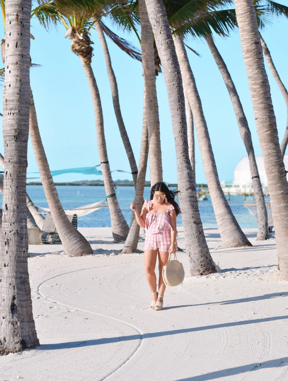 Amara Cay Resort Islamorada hotel - Pink Gingham Two Piece Set - The Keys Style