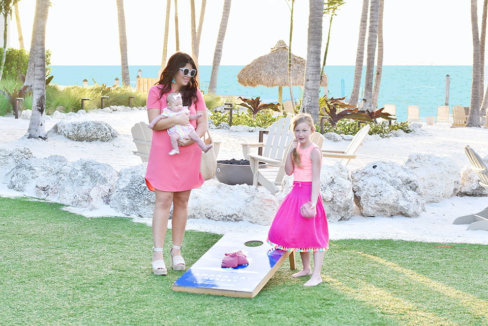 Amara Cay Resort - Games on the Lawn - Resort Mommy Daughter Style