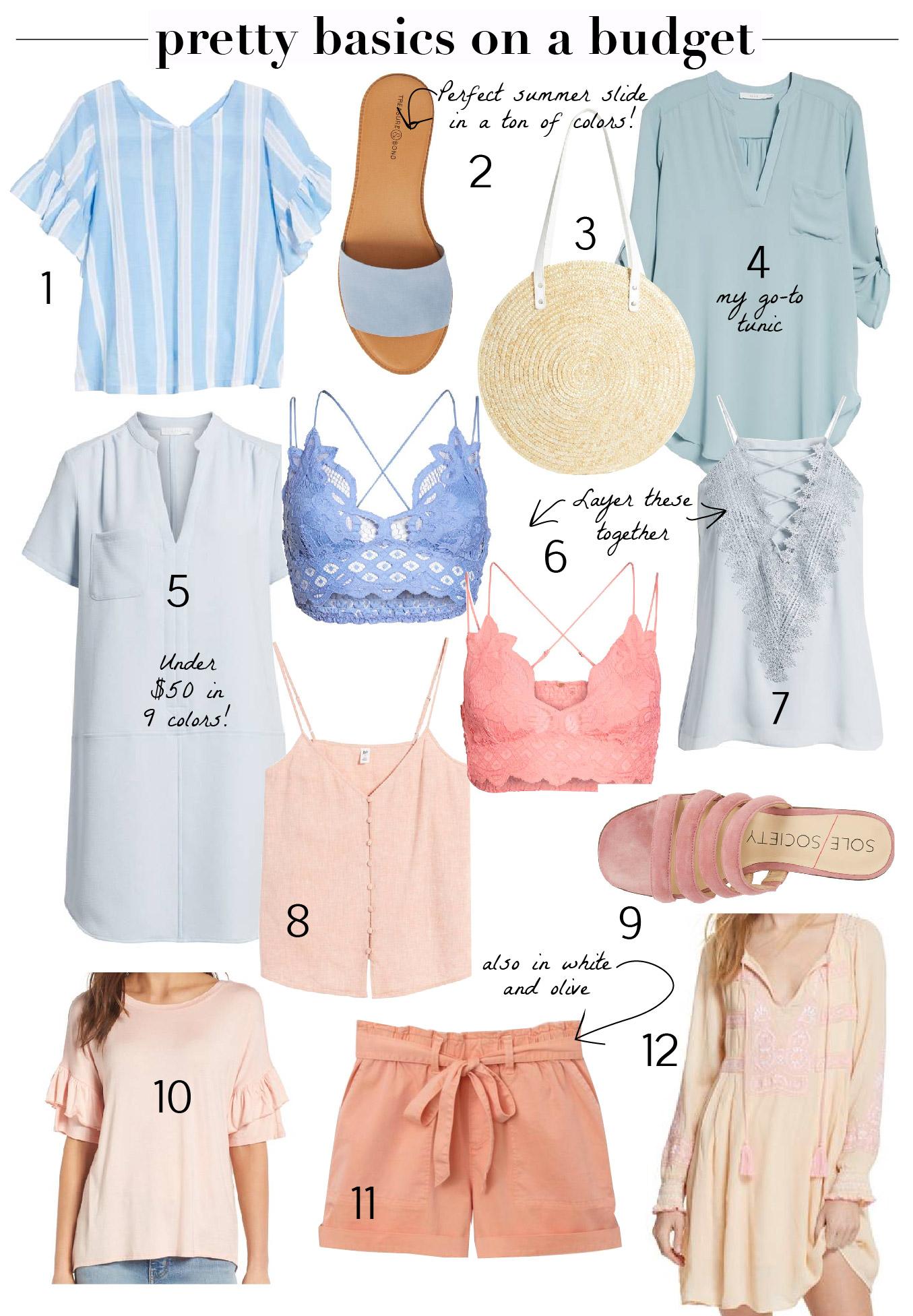Shopping - Nordstrom Half Yearly 2018 Mom Style Summer Wardrobe Pretty Basics