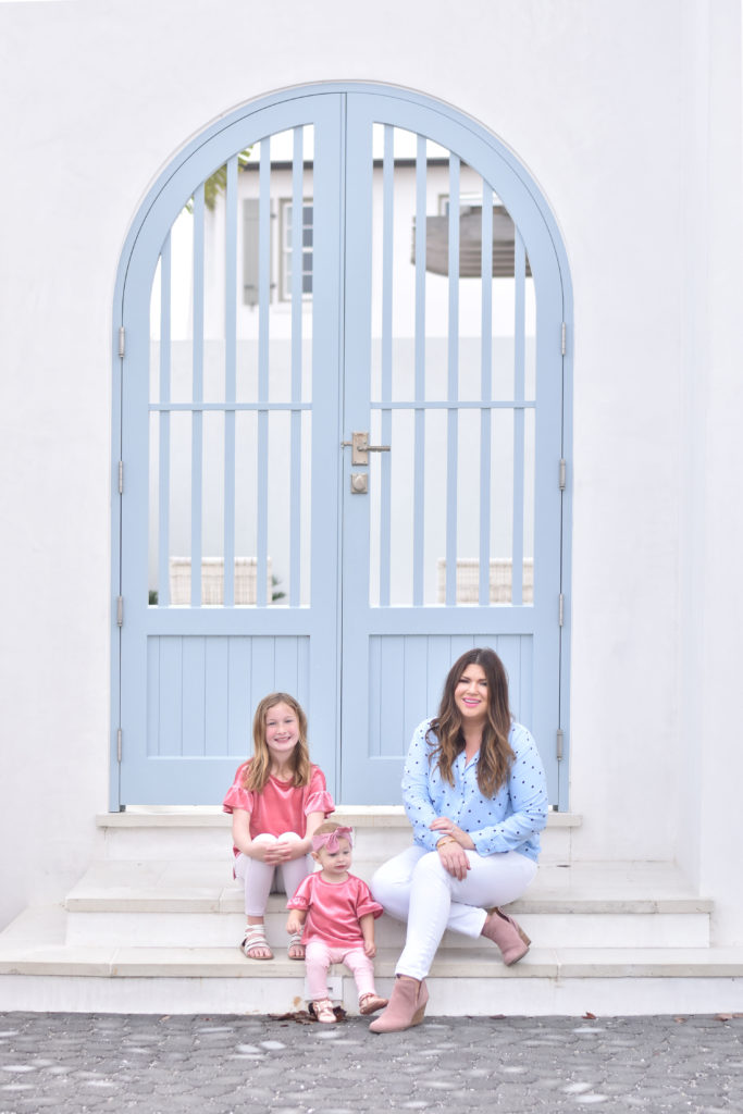 30A Mama Jami Ray in Alys Beach - Such a gorgeous blue door!