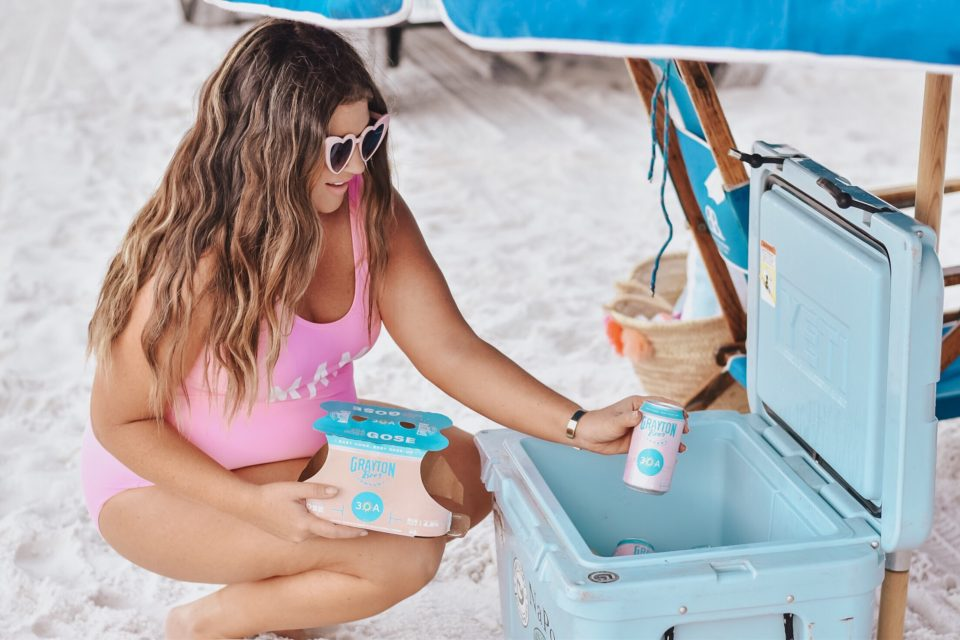 30A Mama - Family Beach Day on Grayton Beach with Grayton Beer 30A Rosé + 30A Beach Blonde
