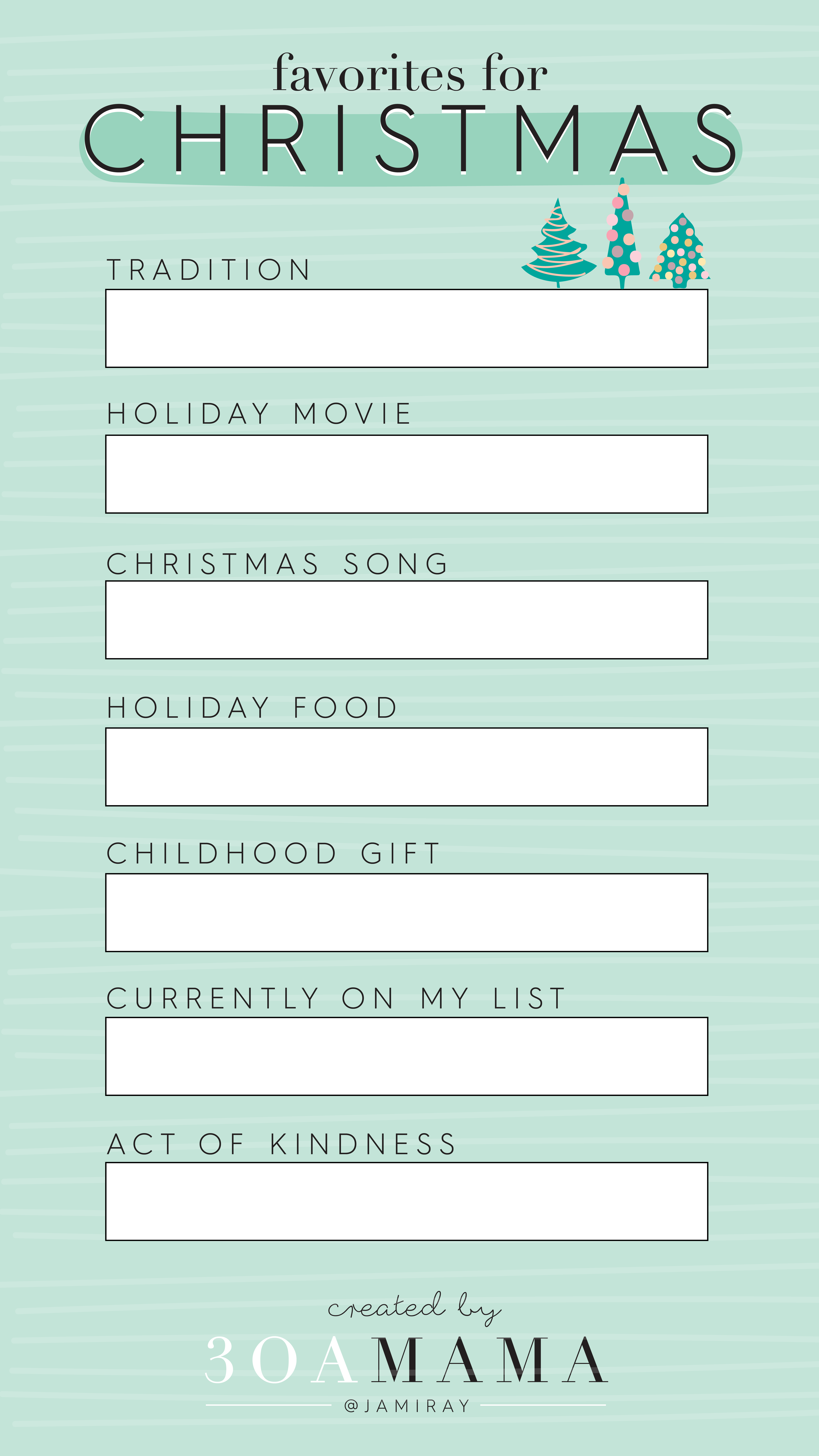 Insta Story Templates Christmas Favorites