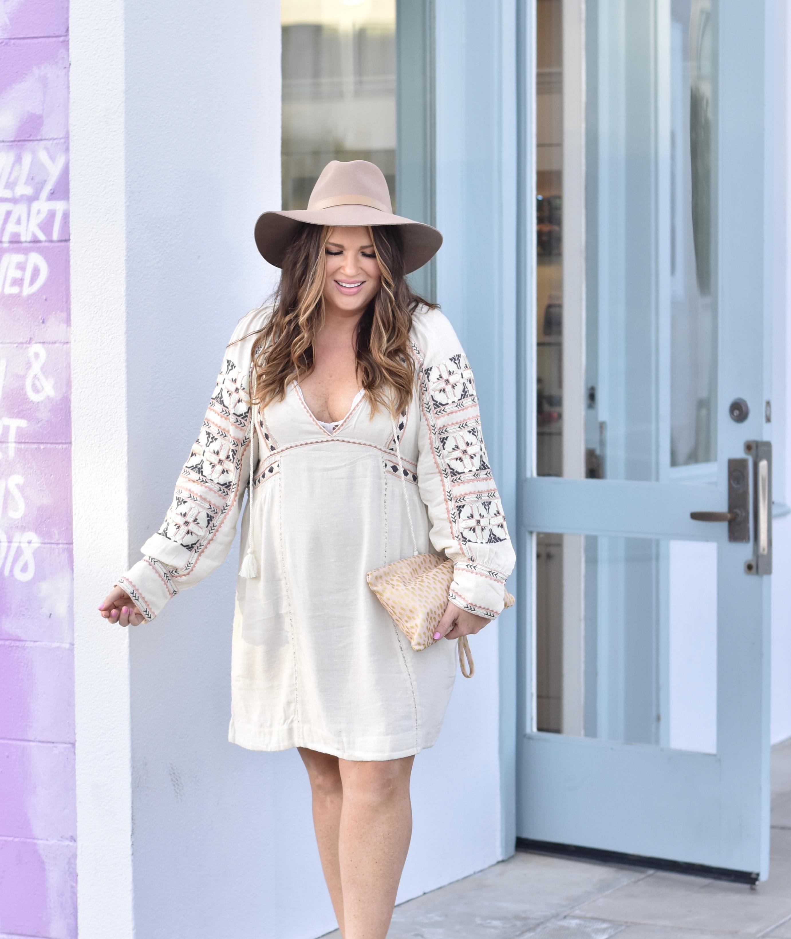 30A Blogger Weekend - Jami Ray wearing Free People dress in Seaside