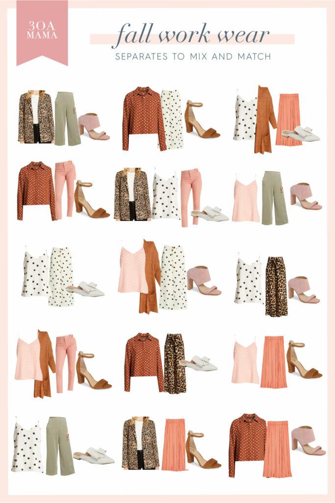 30A Mama Shopping - Fall Work Wear Capsule Wardrobe Combos