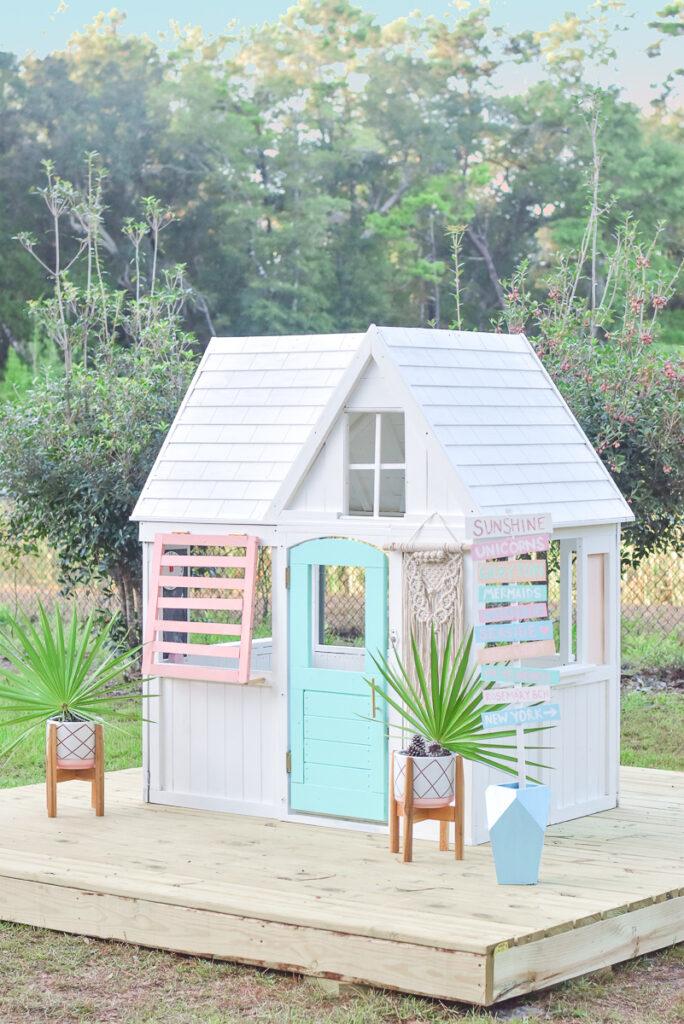 KidKraft Playhouse Makeover - Beach House 30A Mama 3