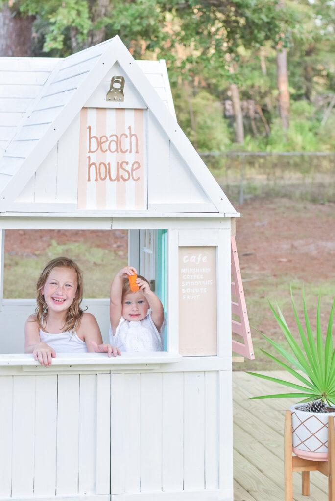 KidKraft Greystone Playhouse Makeover - Beach House 30A Mama