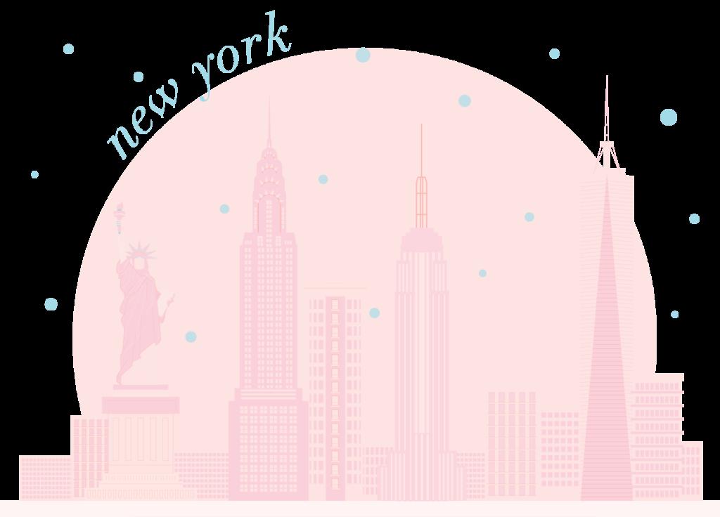 30A Mama - New York skyline pink