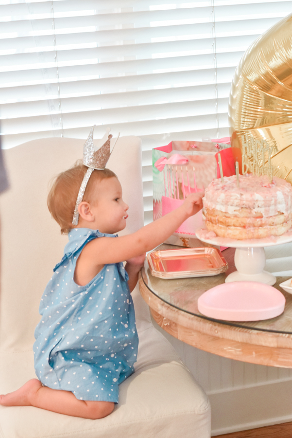 30A Mama blog - Seaside Cottage Rental Agency - Whatcha Dune - Collins 2nd birthday eating cake