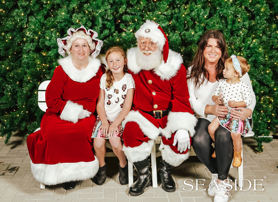 30A Mama blog - Seaside Cottage Rental Agency - Whatcha Dune - Turn on the Town Santa photos