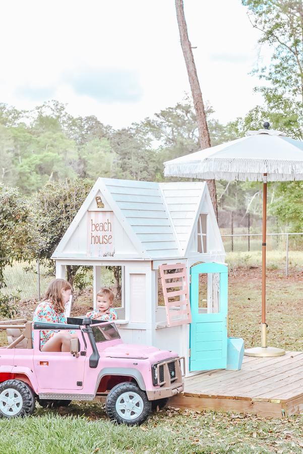 30A Mama DIY Playhouse Fringe Umbrella Pink Defender