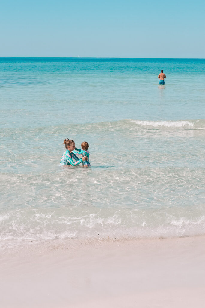 30A Mama wearing Cabana Life swimsuits Gulf of Mexico