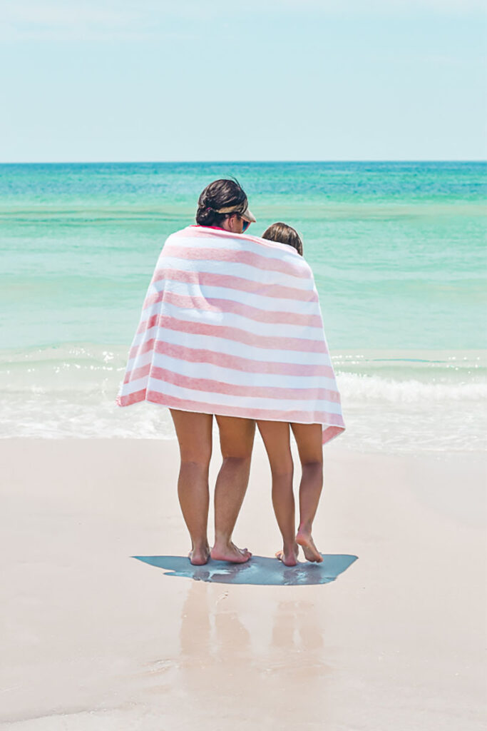 30A Mama Blush Beach Towel mommy and me