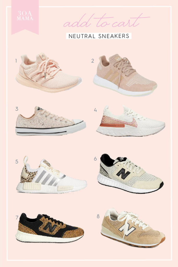 30A Mama In My Cart Neutral Sneakers - Blush Sneakers, Leopard Sneakers
