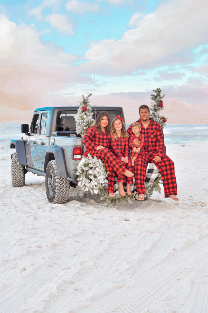 30A Mama Minted Christmas Card - Grayton Beach 30A Christmas
