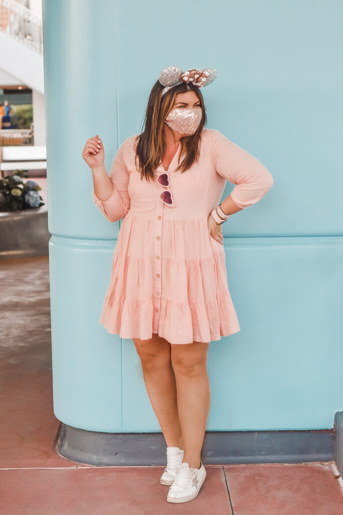30A Mama - Travel Disney 2021- DIsney Outfit Epcot Silver Mouse Ears