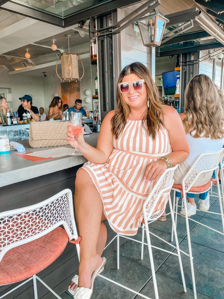 30A Mama - Cabana Stripe Dress Pescado