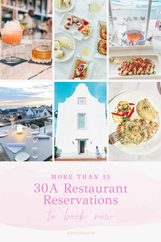 30A Restaurant Reservations Pin