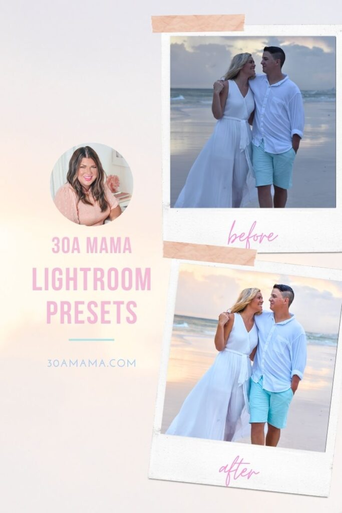 30A Mama Lightroom Presets - Rosemary Beach Alys Beach Seaside - 30A Engagement Session