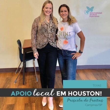 Apoio local em Houston/Texas - Priscila de Freitas