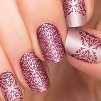 Arabesque - Pink Nail Art Design available at Ulta