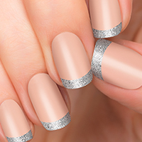 Bling Bling Tips - Silver Tips - Incoco French Manicure