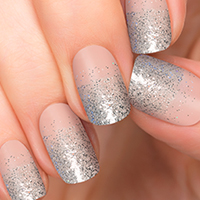 Break the Ice - Silver Glitter over Clear available at Ulta - Incoco Nail Polish Appliques