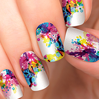 Chemistry - Incoco Abstract Nail Art Design