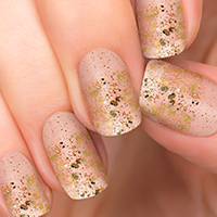 Eye Candy Gold Glitter Incoco Nail Polish Appliques available at Walmart