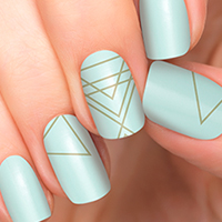 Formula - Incoco Mint Green Minimalist Nail Art - available at Ulta Beauty