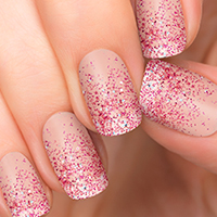 Incoco Nail Polish Appliques - Love Potion Red Glitter over Clear - available at Walmart