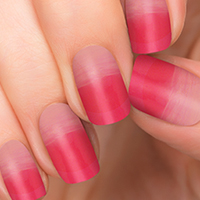 Strawberry Glaze - Pink to Red Ombre