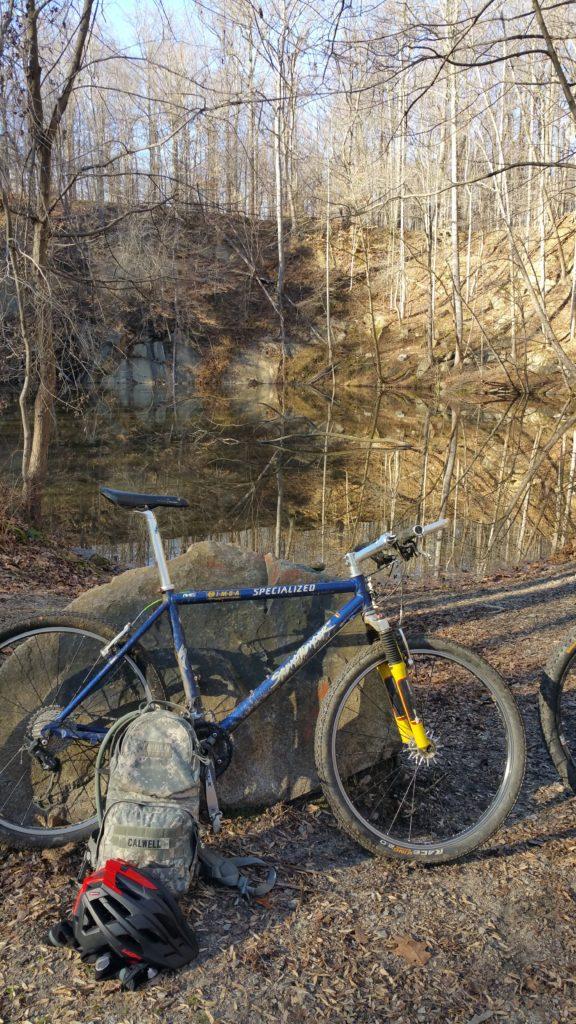Biking at Patapsco State Park