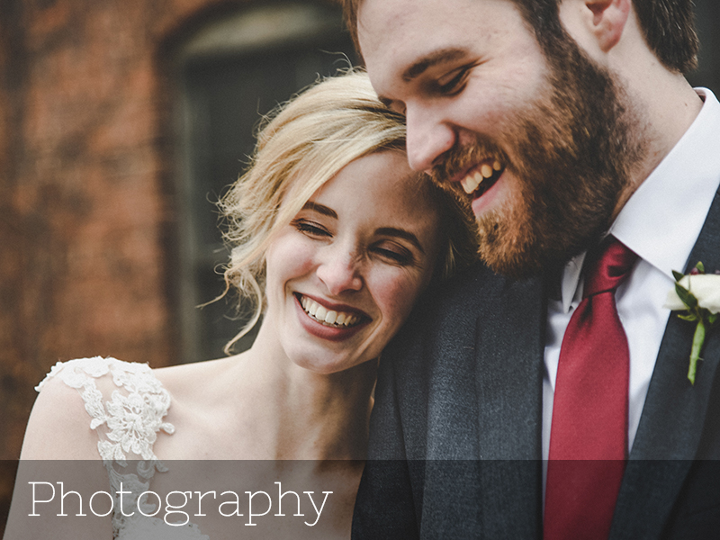 A photo of a couple laughing