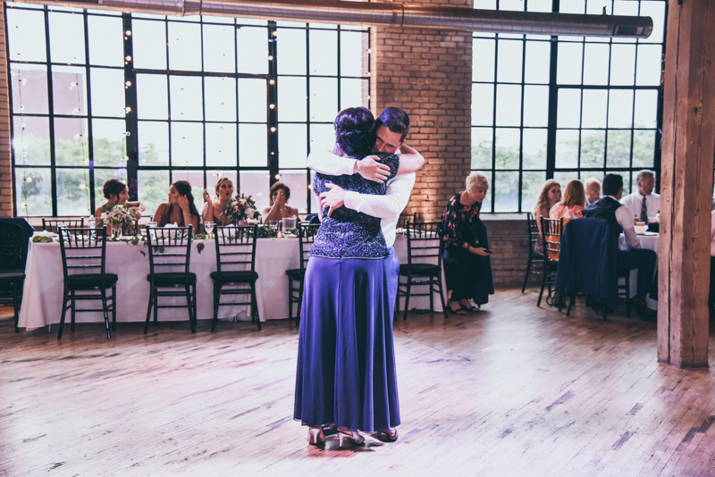 mother son dance at reception