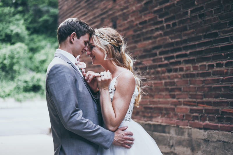evening photos of a bride and groom