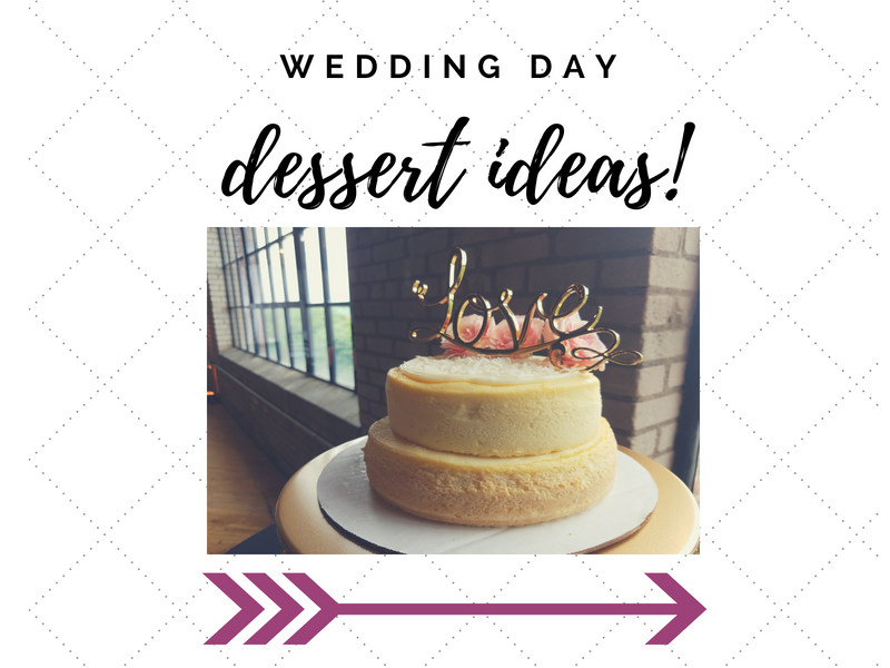 image of a cheesecake wedding cake with a golden love cake topper