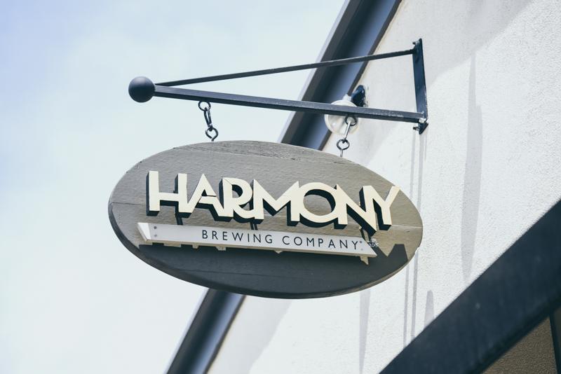 harmony brewing company sign