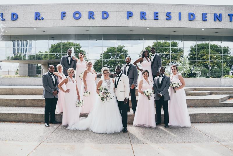 Lauren & Montel   Loft Venue Wedding   Grand Rapids, Michigan