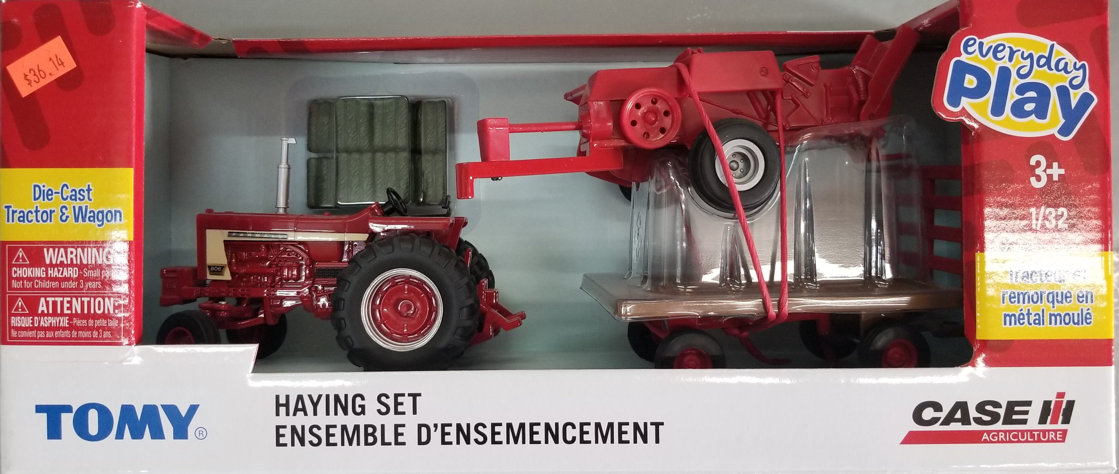 1/32 DIE CAST TRACTOR AND WAGON EVERYDAY PLAY TOMY