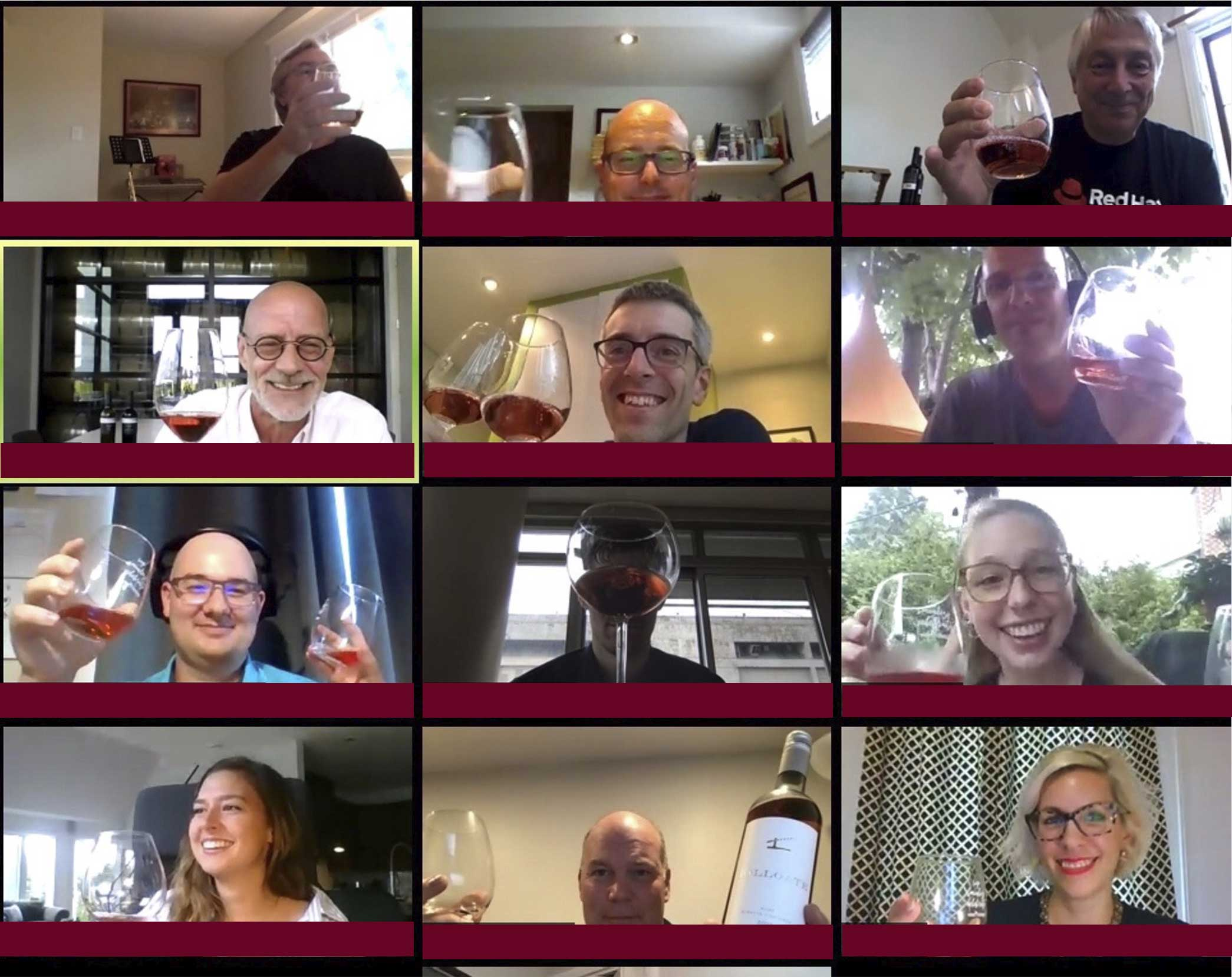 Virtual Wine tasting group