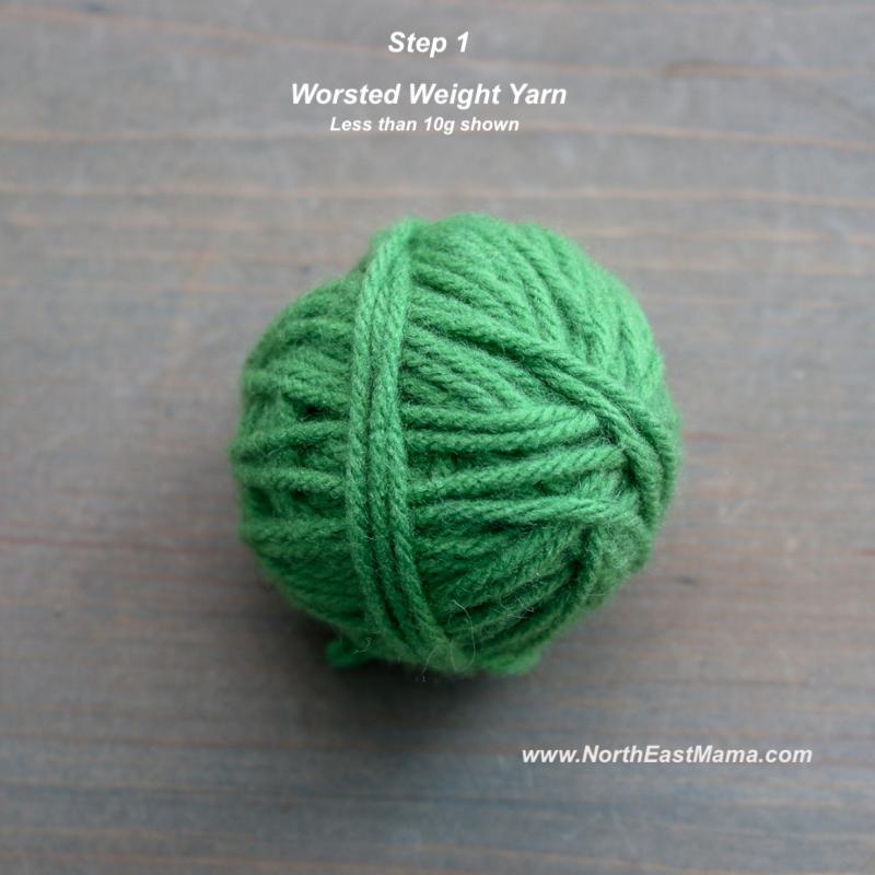 Crochet shamrock pattern step 1
