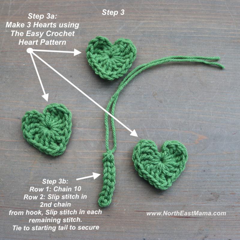 Photo of Step 3 crochet shamrock pattern