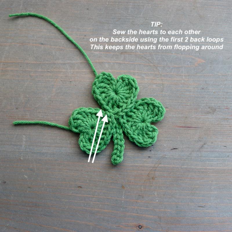 Crochet shamrock pattern helpful hint