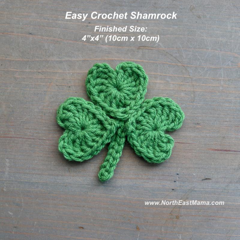 Crochet shamrock pattern Finished